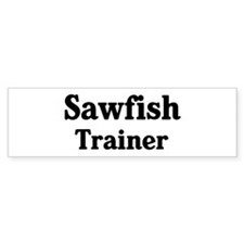 Sawfish trainer Bumper Car Sticker