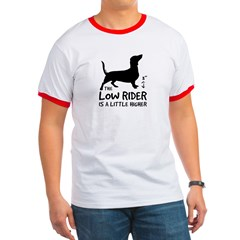 "Dachshund ""The Low Rider..."" Ringer T-shirt"