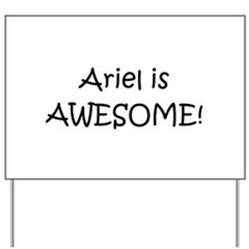 Ariel Yard Sign