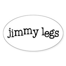 Jimmy Legs Oval Decal