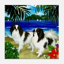 Japanese Chin Beach Tile Coaster