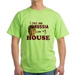 I Can See Russia from my House Green T-Shirt