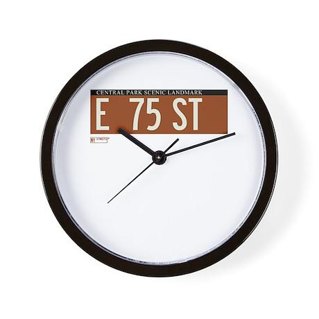 75th Street in NY Wall Clock