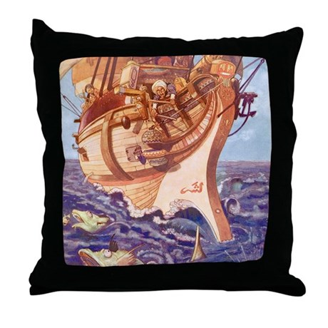I Saw Fishes Throw Pillow