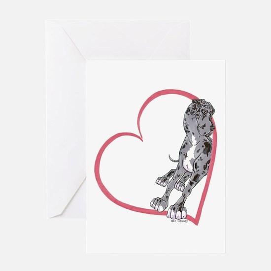 NMrW Heartline Lean Greeting Card