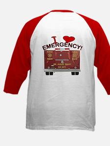 I Love EMERGENCY! Kids Baseball Jersey