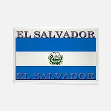 El Salvador Rectangle Magnet