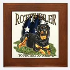 To protect & Serve Framed Tile