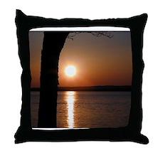 Monterey Bay Sunset Throw Pillow