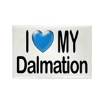 I Love My Dalmation Rectangle Magnet (100 pack)