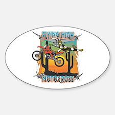 Flying High Motocross Sticker (Oval)