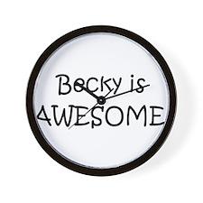 Cute I love becky Wall Clock