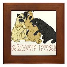 Group Pug Framed Tile