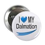 I Love My Dalmation Button