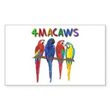 4 Macaws Decal