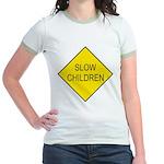 Slow Children Sign Jr. Ringer T-Shirt