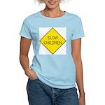 Slow Children Sign Women's Pink T-Shirt