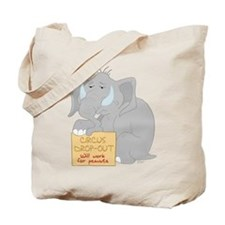 Circus Elephant Tote Bag