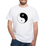 Ferret Yin Yang White T-Shirt