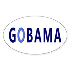 Baby Blue GOBAMA Oval Stickers