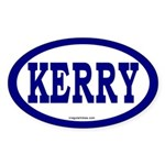 Kerry Blue Oval Car Bumper Sticker