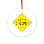 Slow Children Sign - Keepsake (Round)