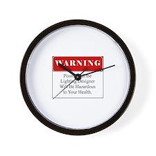 Pissing OffLighting Designer 001 Wall Clock
