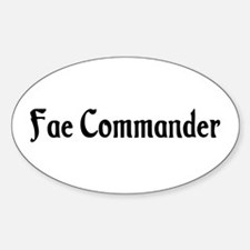 Fae Commander Oval Decal