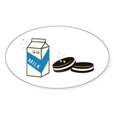 Oreos and Milk Oval Decal