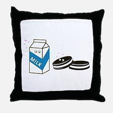 Oreos and Milk Throw Pillow