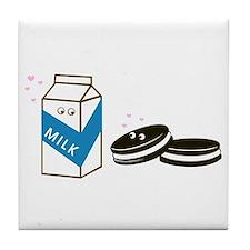 Oreos and Milk Tile Coaster