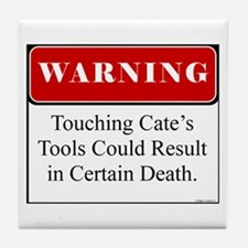 Touching Cate's Tools 001 Tile Coaster