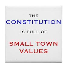 Constitution Values Tile Coaster