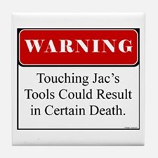 Touching Jac's Tools 001 Tile Coaster