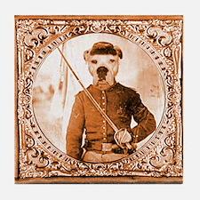 American Bulldog WILBER Tile Coaster