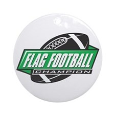 Flag Football Champion Ornament (Round)