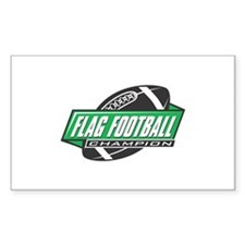 Flag Football Champion Decal