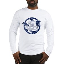 Save the Animals Blue Long Sleeve T-Shirt