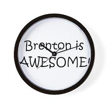 Unique I love brenton Wall Clock