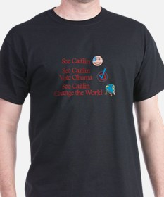 See Caitlin Vote Obama T-Shirt