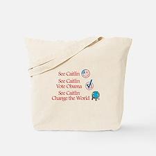 See Caitlin Vote Obama Tote Bag