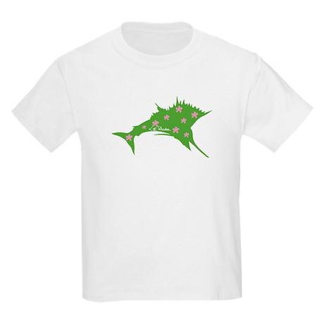 Pink & Green Sailfish Kids Light T-Shirt
