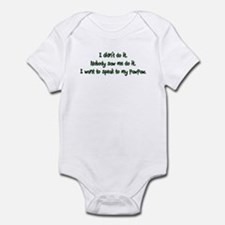 Want to Speak to PawPaw Infant Bodysuit