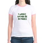 Rather Be in Forks Jr. Ringer T-Shirt