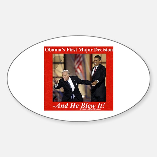 """Biden VP Decision"" Oval Decal"