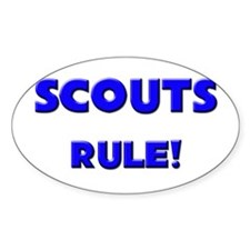 Scouts Rule! Oval Decal