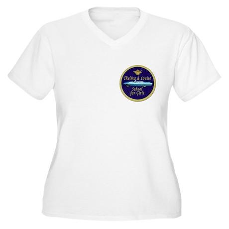 School for Girls Women's Plus Size V-Neck T-Shirt