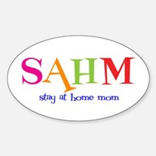 Stay at Home Mom Oval Decal