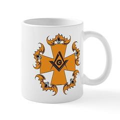 Masonic Bats and Maltese Cross Mug
