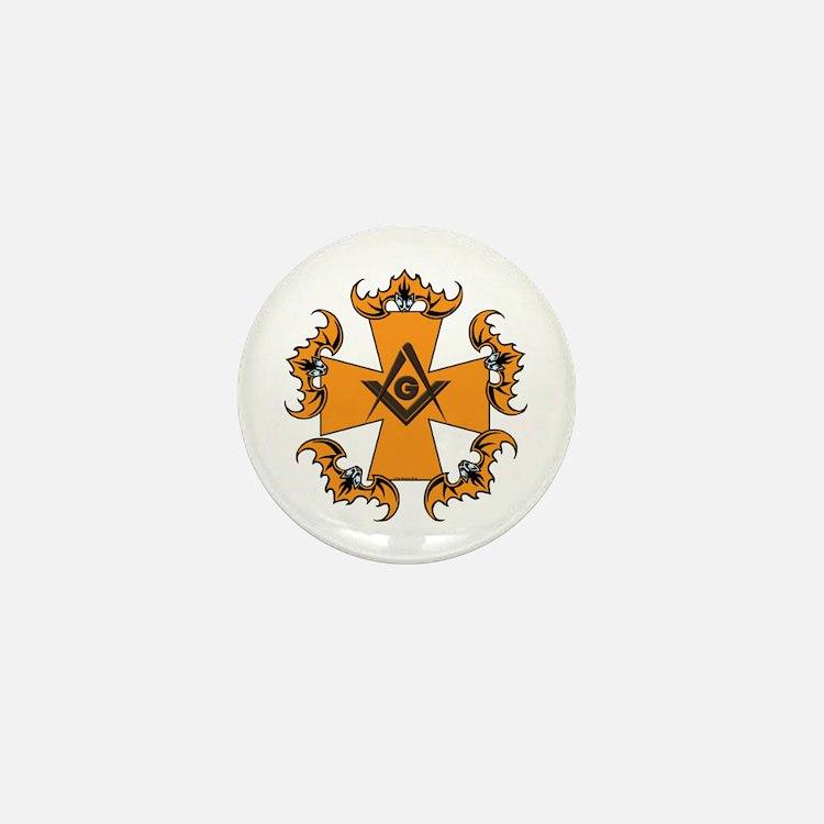 Masonic Bats and Maltese Cross Mini Button